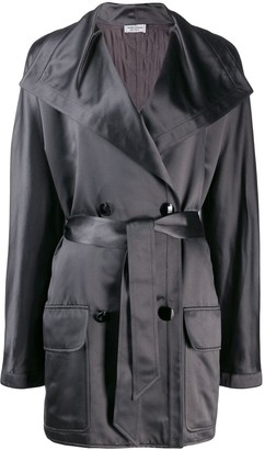 Valentino Pre Owned 1980's Double-Breasted Belted Coat