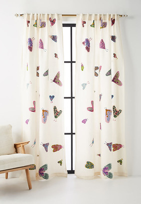 """Anthropologie Embroidered Luella Curtain By in Assorted Size 50"""" X 96"""""""