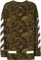 Off-White military stripe sweater - men - Cotton - S