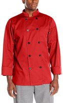 Dickies Men's Paolo Classic Chef Coat Basic Long Sleeve with Pearl Buttons