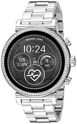 Michael Kors Women's Sofie Heart Rate' Touch-Screen Smartwatch with Stainless-Steel Strap