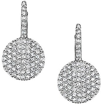 Phillips House Diamond & 14K White Gold Disc Drop Earrings