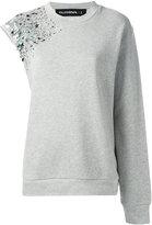 Filles a papa embellished asymmetric sweatshirt - women - Cotton - 1