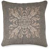 Joseph Abboud Environments Oakhill Embroidered Square Throw Pillow in Walnut