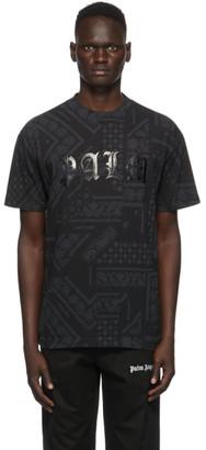Palm Angels Black Bandana T-Shirt