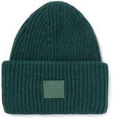Acne Studios Appliquéd Ribbed Wool-blend Beanie - Green