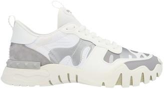 Valentino Camo Rock Runner Sneakers White
