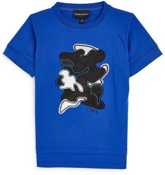 Emporio Armani Kids Abstract-Applique T-Shirt (4-16 Years)