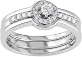 JCPenney FINE JEWELRY 1/4 CT. T.W. Diamond Bridal Ring Sterling Silver