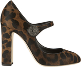 Dolce & Gabbana Leopard Mary Jane Pumps