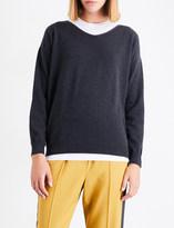 Brunello Cucinelli Chain-detail stretch-cotton T-shirt