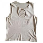 Celine Khaki Cotton Top
