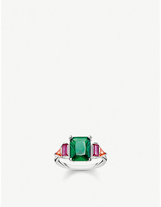 Thomas Sabo Magic Stones sterling silver and gemstone cocktail ring