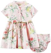 Carter's Baby Girl Floral Henley Dress