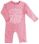 Urban Smalls Heather Pink 'Fearfully and Wonderfully' Playsuit - Infant