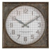 Uttermost 'Warehouse' Wall Clock With Grill