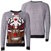 Loyalty And Faith Mens Christmas Sweater Novelty Knitted Reindeer Xmas Jumpers Sizes S -XXL