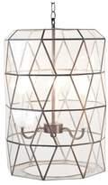 Worlds Away Facet Glass 3-Light Lantern