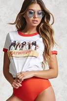 Forever 21 FOREVER 21+ Baywatch Graphic Ringer Tee
