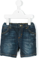 Dolce & Gabbana distressed denim shorts - kids - Cotton/Spandex/Elastane - 9 mth