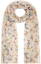 Yours Clothing Yoursclothing Plus Size Womens Butterfly Print Crinkled Scarf Shawl Wrap Ladies