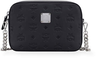 MCM Klara Monogrammed Leather Crossbody Bag