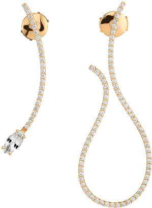 Swarovski x Paige Novick Arc-en-Ciel Yellow Gold, Diamond and Topaz Mismatched Earrings