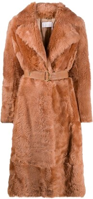 Chloé Belted Shearling Coat