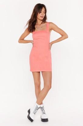 Nasty Gal Womens Zip It Please Denim Mini Dress - Coral