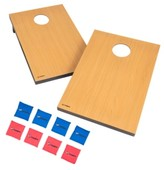 Viva Sol Triumph Tournament Bean Bag Toss Game with 2 Wooden Portable Game Platforms on Foldable Legs and 8 Toss Bags