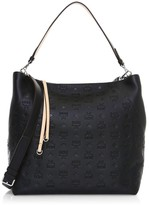 MCM Large Klara Monogram Leather Hobo Bag