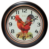 """Infinity Instruments Rotterdam Rooster Wall Clock - 12""""D -"""