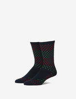 Tommy John Green and Red Dot Performance Dress Sock