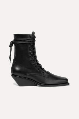 Ann Demeulemeester Leather Ankle Boots - Black
