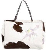 Gianni Versace Printed Ponyhair Bag