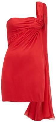 William Vintage - Jean Desses 1953 Crepe One Shoulder Mini Dress - Womens - Red