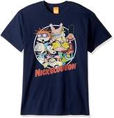Nickelodeon Men's Group Circle T-Shirt