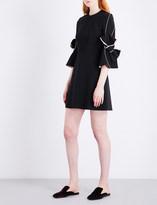 Roksanda Harlin bow-sleeve stretch-crepe mini dress