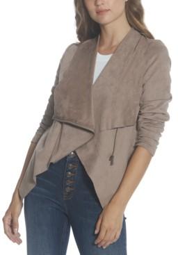 Vigoss Asymmetrical Faux-Suede Jacket