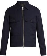 Ami Point-collar Zip-through Wool Jacket