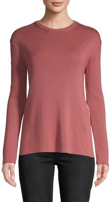Valentino Long-Sleeve Wool & Cotton-Blend Top