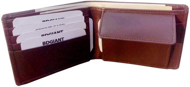 2f9bd327febc Leather Wallet Men Coin Brown - ShopStyle Canada