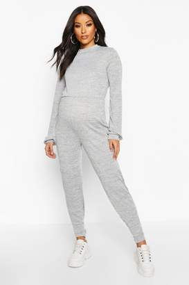 boohoo Maternity Knitted Lounge Jumpsuit