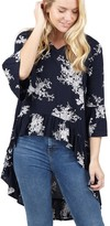 M&Co Izabel ruffle detail high low blouse
