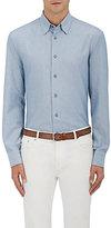 Brioni Men's Cotton Oxford-Cloth Button-Down Shirt-Light Blue