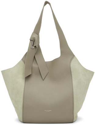 Rag & Bone Green Leather Grand Shopper Tote