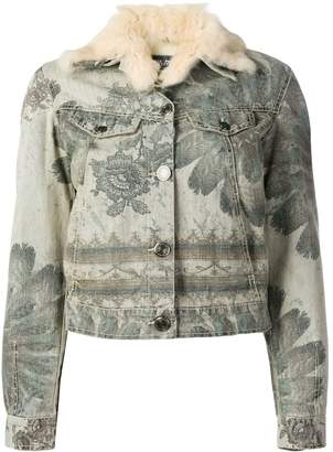 Jean Paul Gaultier Pre-Owned floral print denim jacket