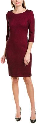 St. John Sheath Wool-Blend Dress