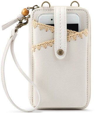 The Sak Iris North South Leather Smartphone Crossbody Bag