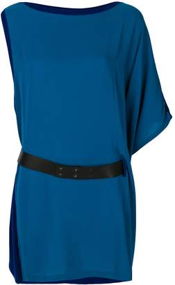 Hermes Pre Owned asymmetric belted dress
